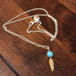 Pura Vida Feather & Turquoise Necklace